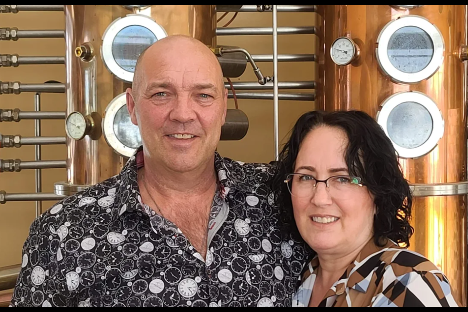 Marcel Rheault (l) and Mireille Morin of Hearst will open a new distillery in Thunder Bay this year (submitted photo)