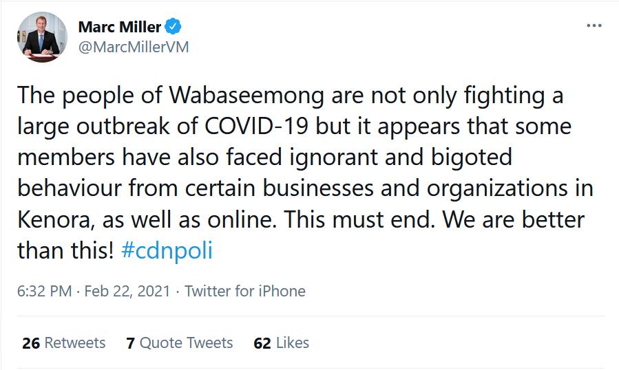 Marc Miller tweet