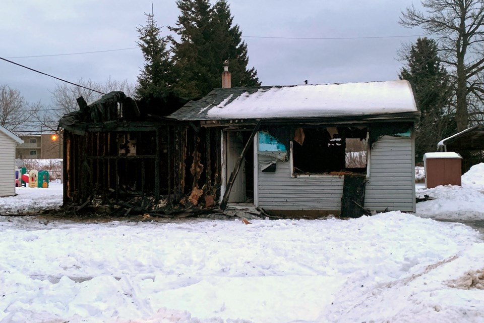 An early morning fire caused extensive damage to a south side home on Monday. (Leith Dunick, Tbnewswatch.com)