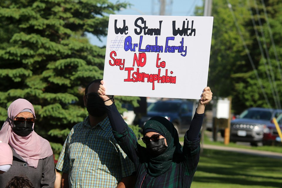 Yamaan Alsumadi says she and her family went for a walk in Thunder Bay the same night another Muslim family was struck down, killing four people, in what police say was a targeted hit-and-run. (Leith Dunick, tbnewswatch.com)
