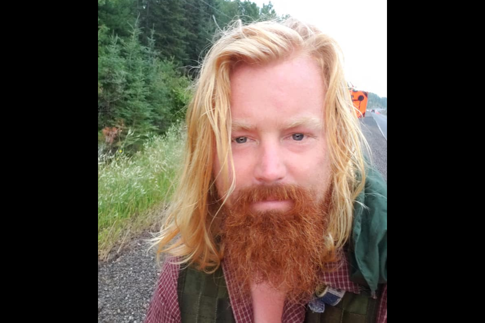 Scotsman Michael Yellowlees is trekking across Canada to raise money to restore the forest in the Scottish Highlands (Facebook/Michael Yellowlees)