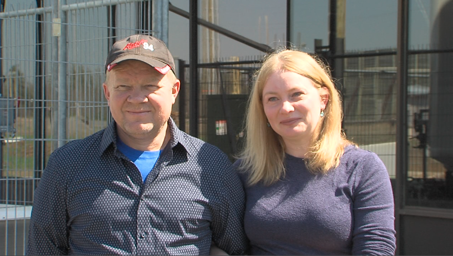 Viktor and Elena Rogalski of Eco Carbon Foam Inc. say they have created an innovative product (Brianne Foley/TBTV)