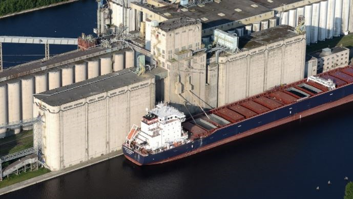 A new port record for the amount of grain loaded onto a single ship was set on Oct. 3, 2021 at the G3 Canada Terminal on the Mission River (G3 Canada photo)