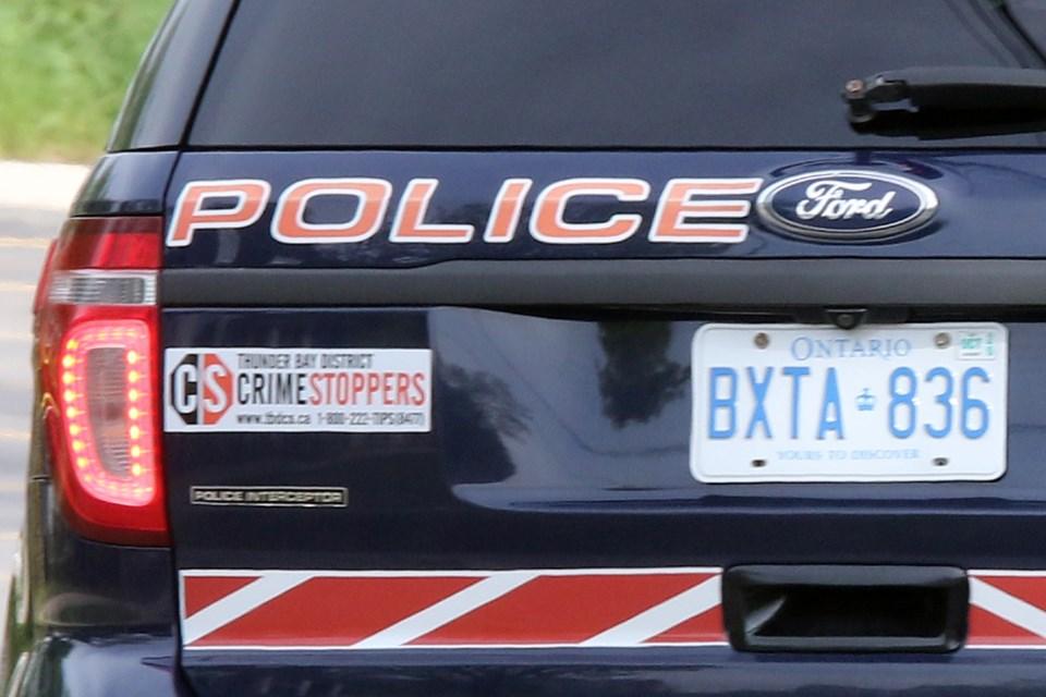 Thunder Bay Police Car Rear