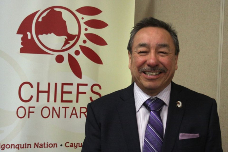 Former Ontario Regional Chief Stan Beardy (tbnewswatch file photograph)