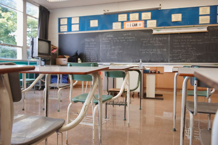 empty classroom lwa getty images