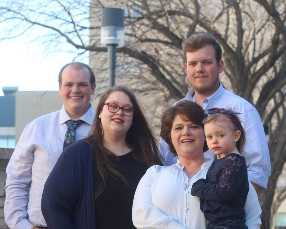 federal election 2021 churchill keewatinook aski conservative candidate charlotte larocque and family