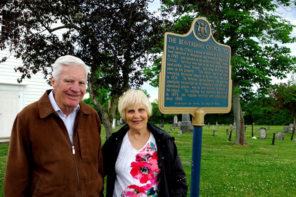David and Donna Cowan have spearheaded the Friends of Beaverdams Church restoration. Bob Liddycoat  / Thorold News