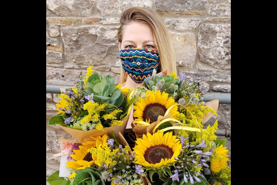 Lydia Rekrut, Creekview Floral Co. owner says the local economy has been the key to surviving during the pandemic. Photo: Supplied