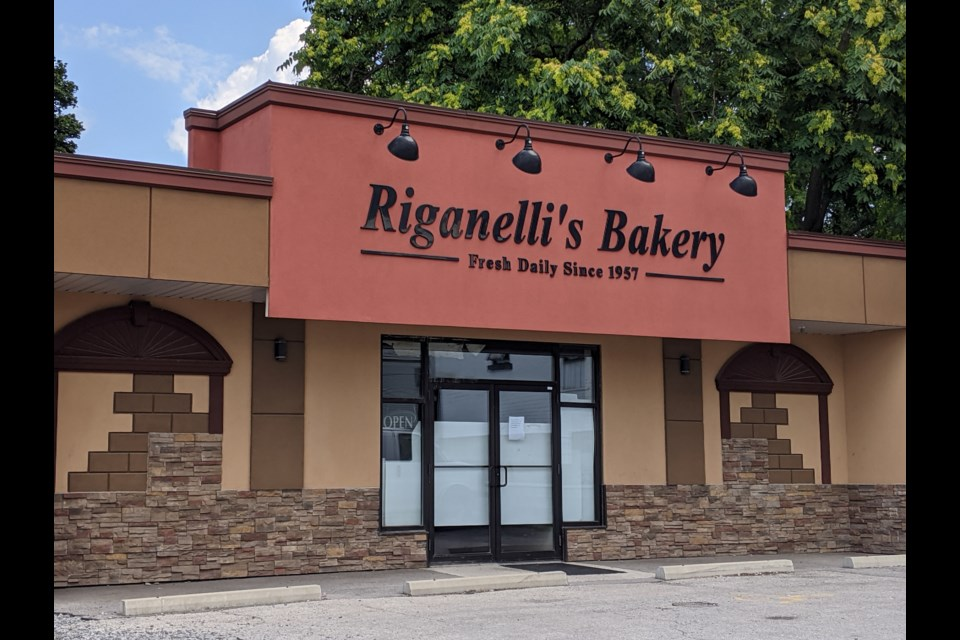 Riganelli's Bakery has closed, ending a legacy that has gone on for decades. Photo: Ludvig Drevfjall/ThoroldToday