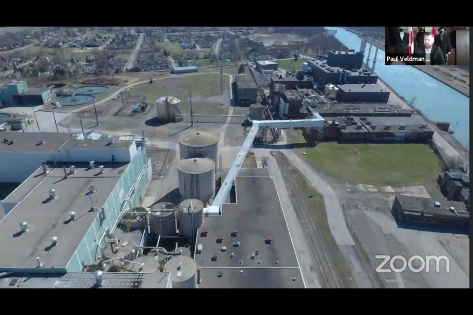 The site is situated adjacent to the Welland Canal. Photo: HOPA Ports promotional video