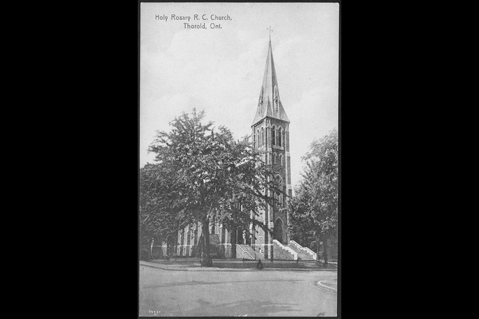 Historical photo of Holy Rosary. Photo Toronto Public Library