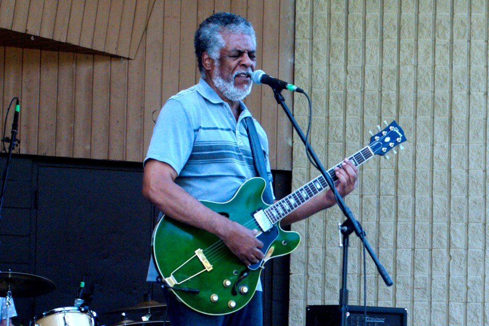 Leroy Emmanuel with his signature 1971 green guitar from the original Gibson factory in Kalamazoo, Michigan. Bob Liddycoat / Thorold News