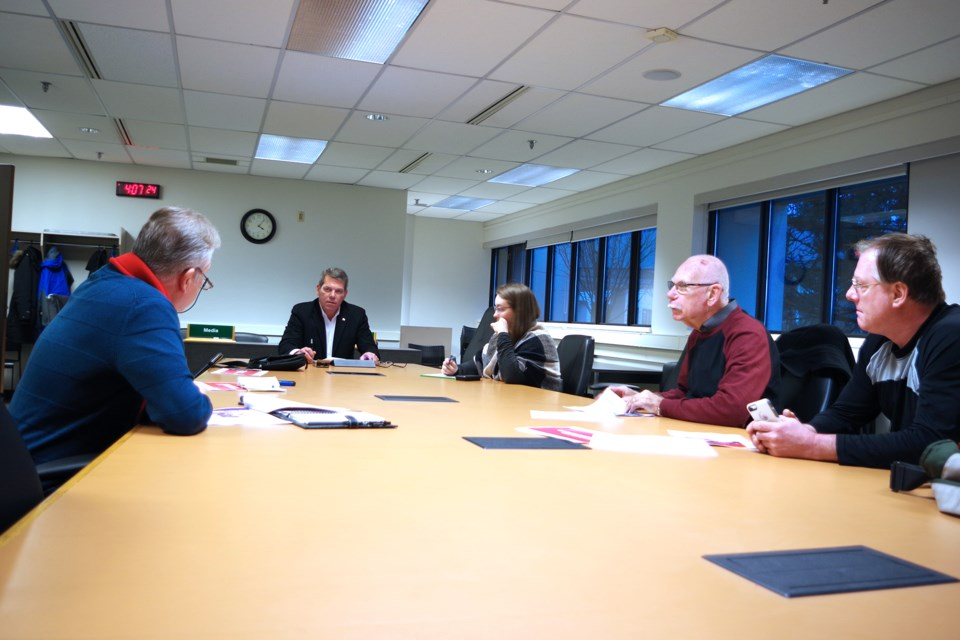 A small round table took part in the discussion but the public is invited to participate through email and an online questionnaire. Bob Liddycoat /ThoroldNews