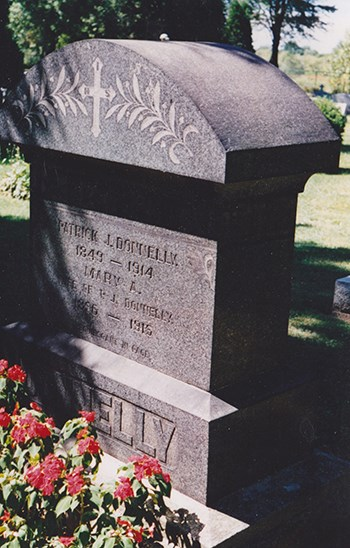 Patrick Donnelly's headstone at Thorold's Lakeview Cemetery. Bob Liddycoat / Thorold News