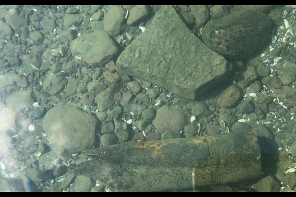 A World War 2 era artillery shell found in Niagara on the Lake on June 1, 2021