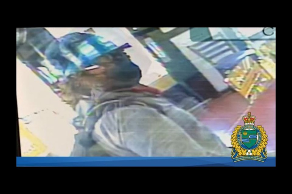 Police are looking for a suspect involved in an armed robbery at a restaurant in St. Catharines on Wednesday afternoon.