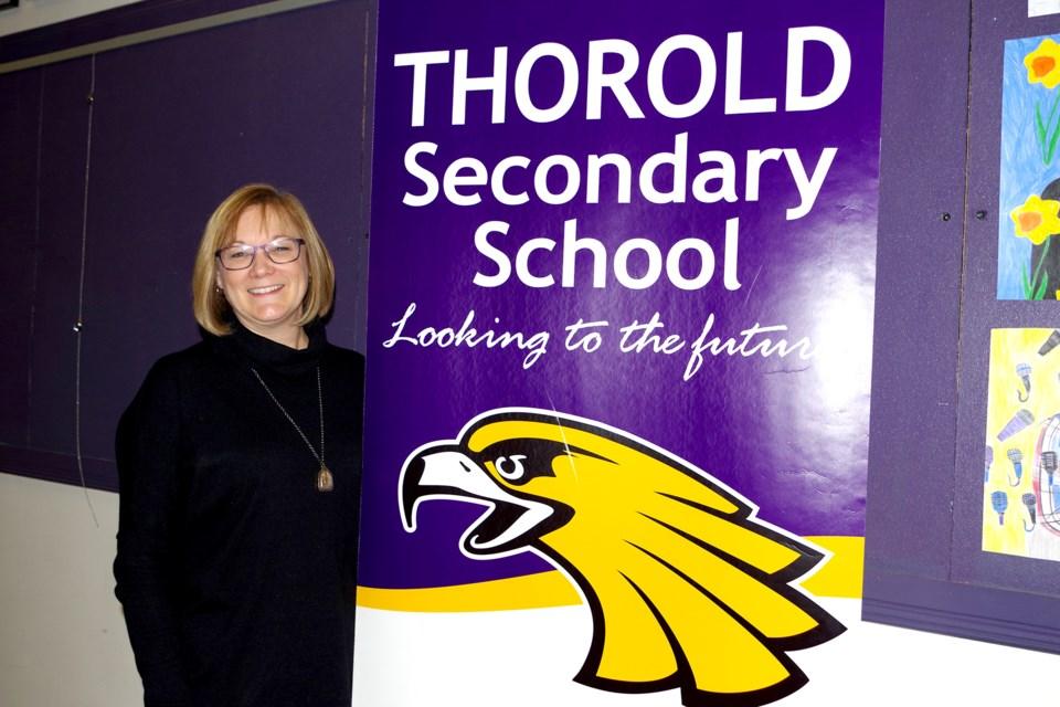 TSS Principal, Karen Ferguson addressed One Thorold last week. Bob Liddycoat / Thorold News