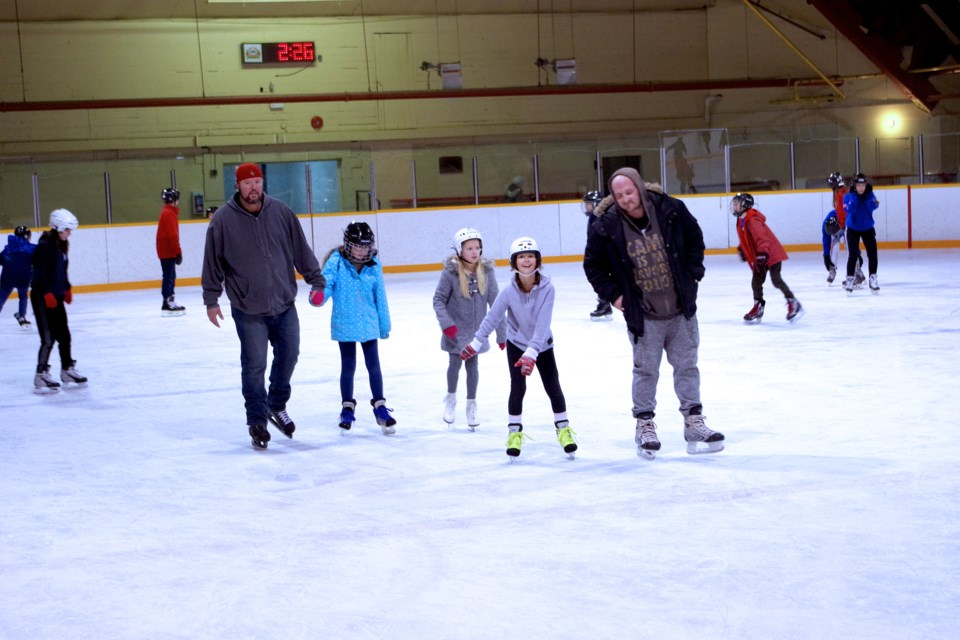 Prince of Wales school kids had some fun and exercise with a skate Thursday afternoon at the Thorold Jack Whyte Arena. Bob Liddycoat / Thorold News