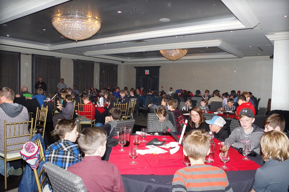 A full banquet hall at Johnny Rocco's for the annual TAAA banquet. Bob Liddycoat / ThoroldNews