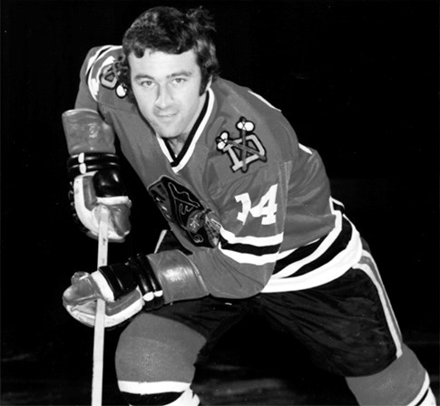 Photo of Lodboa when he played with the Dallas Blackhawks and on his plaque in the Thorold Arena's Runway of Recognition. Lodboa passed away Sunday. Submitted Photo