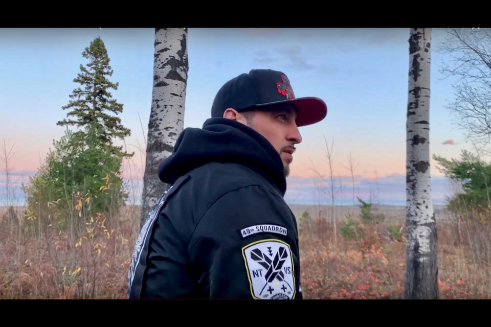 Hip hop producer and painter Christopher Sutherland, also known as Shibastik, was born and raised in Moosonee. Supplied photo