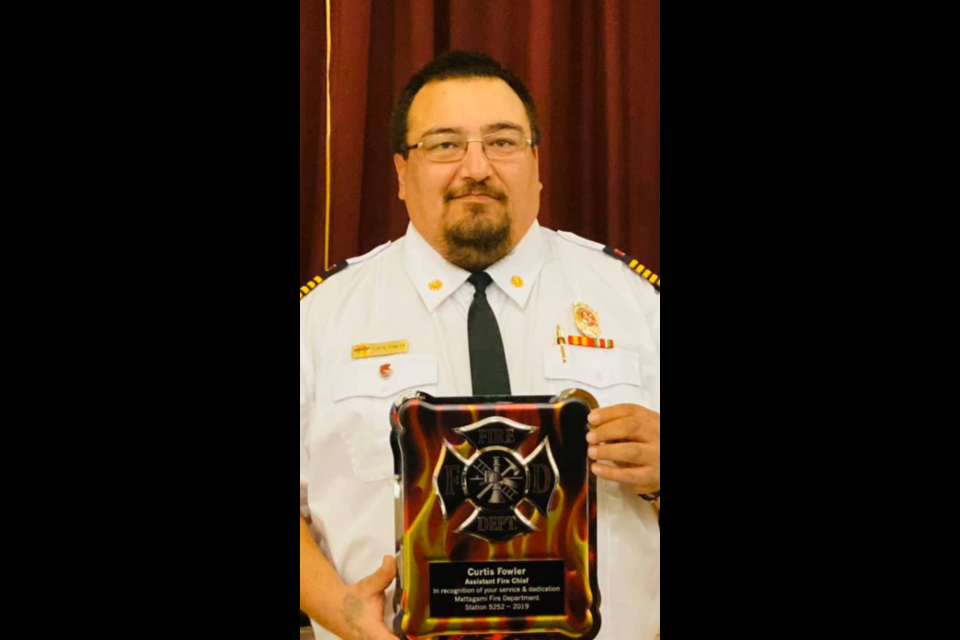Curtis Fowler is the new fire chief of Mattagami First Nation Fire Department, Station 5252.