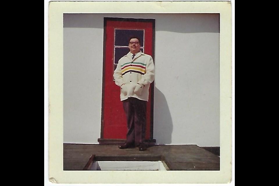 Fred Paisnel wears a Hudson's Bay coat. The photo was taken in Manawan in 1956. Supplied photo
