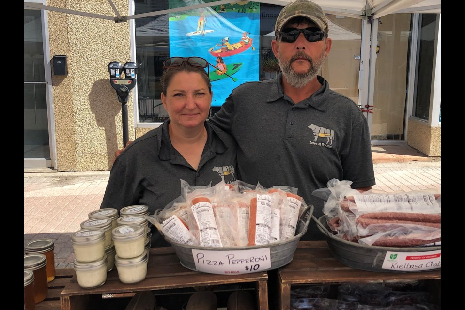 Acres of Dreams owners Patsy and Harold Schmidt. The Timmins farm offers a variety of fresh, locally raised food products.