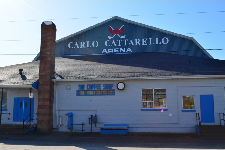 The Carlo Cattarello Arena in South Porcupine. The arena is not owned by the city, but is run by a volunteer board of directors. Wayne Snider for TimminsToday