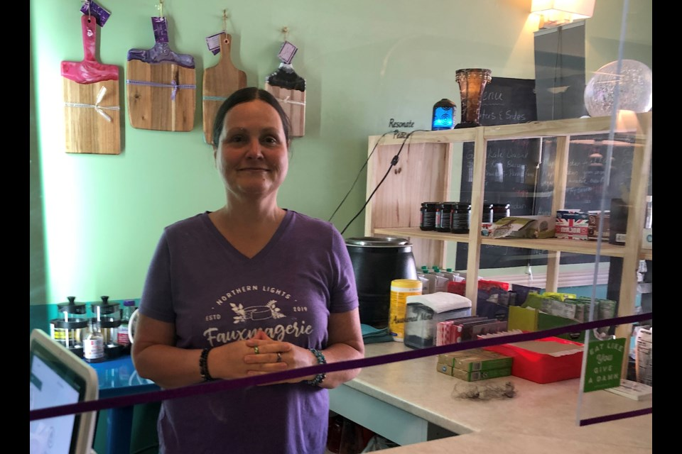 Rocsi Carr, owner of Northern Lights Fauxmagerie in Timmins, has expanded the business in include a grocery section and non-dairy cheese production in addition to the eatery.