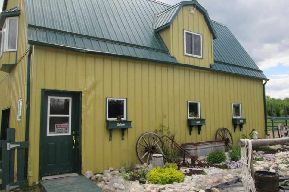 The barn at Heaven's Harmony Farm Visits in Timmins. Wayne Snider for TimminsToday