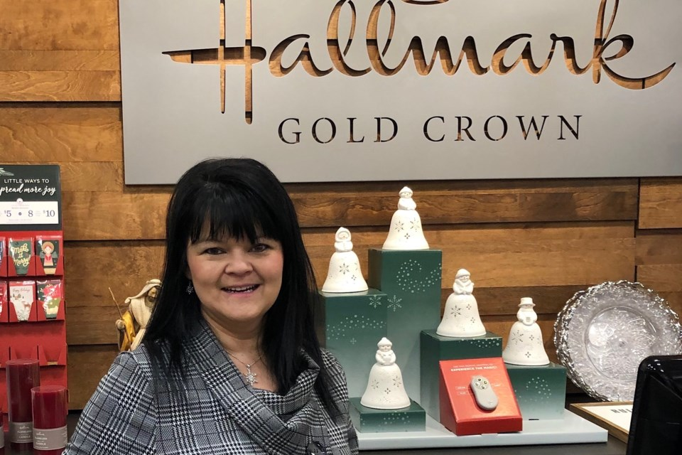 Leah Belanger is the manager of the new Hallmark store in the Timmins Square. The store opened in November. Wayne Snider for TimminsToday