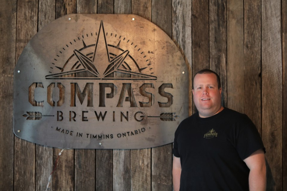 Compass Brewing owner Kevin Patriquin. Andrew Autio for TimminsToday