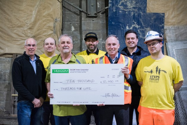 Threads of life donation © EACOM Timber Corporation
