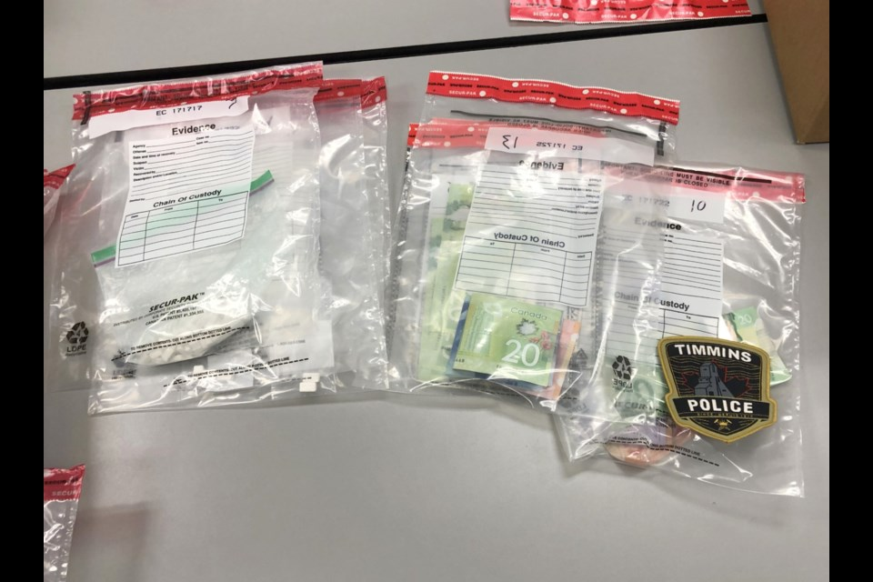 The street value of the controlled substances seized in pegged at approximately $80,000. Photo supplied by Timmins Police Service