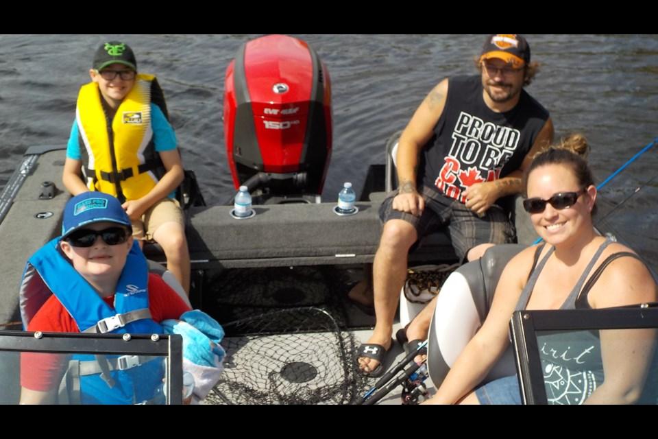 Noah Charbonneau, Mason Poulin-Charbonneau, Amanda Poulinand Aurele Charbonneau Jr.  Photo submitted