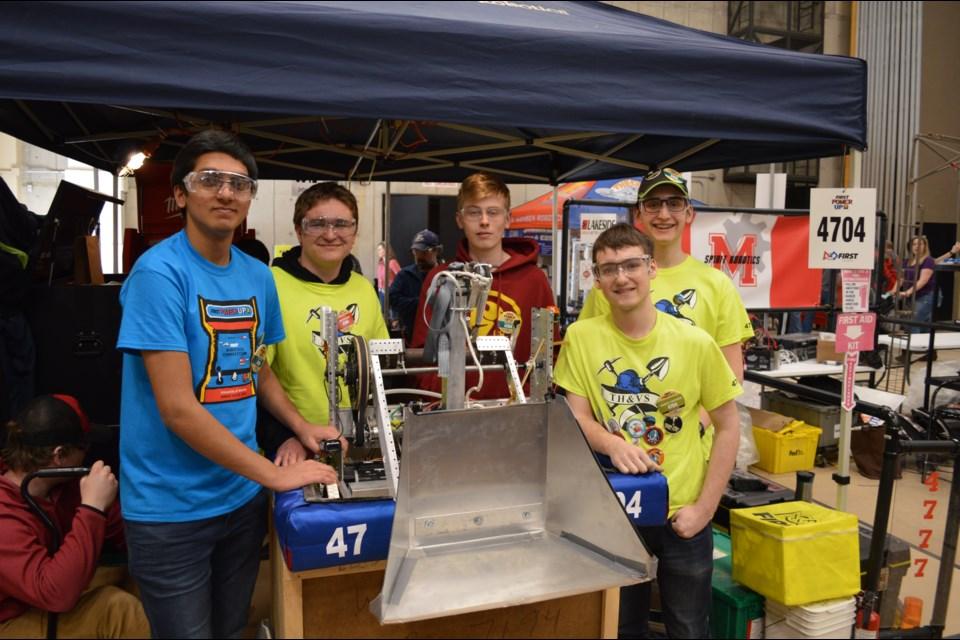 Team 4704 – Northern Lights Robotics team members Daud Liaqat, Samuel Street, Carter Vincze, Grant Wagner, and Emerson Arnold. Supplied photo