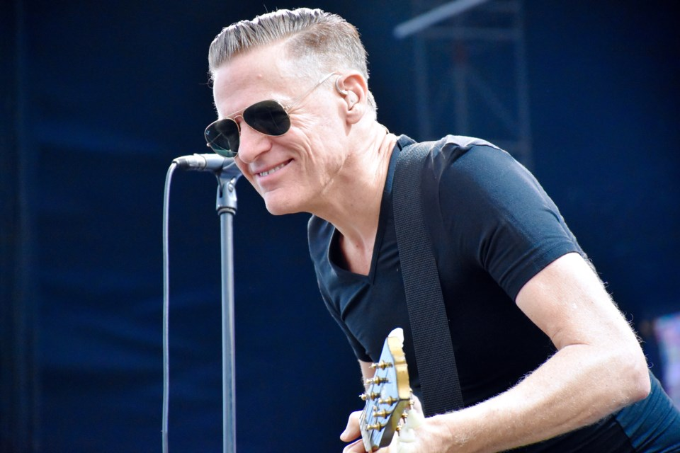 Canadian rocker Bryan Adams played all of the hits the crowd wanted to hear at the 2018 Stars and Thunder music festival. Maija Hoggett/TimminsToday