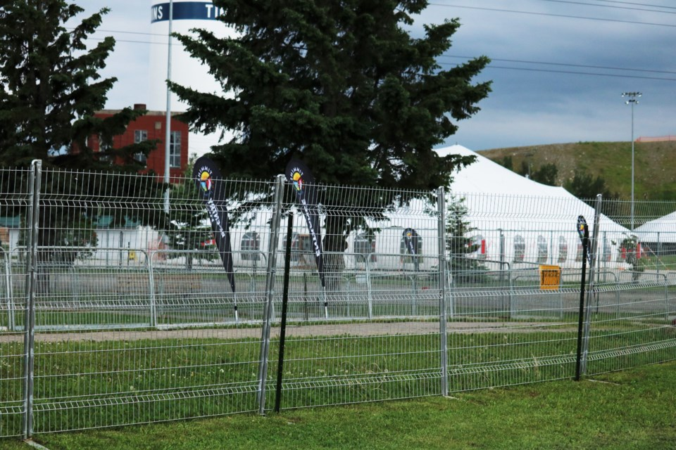 Hollinger Park will be fenced off for the first half of summer. Andrew Autio for TimminsToday