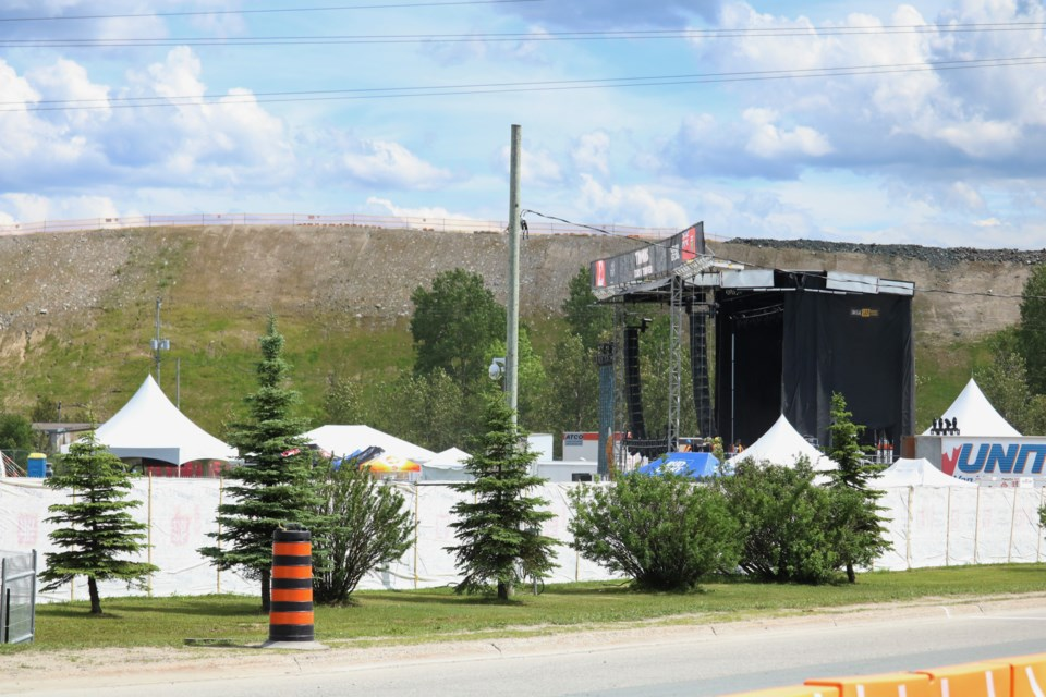 The southwest corner of Hollinger Park, where the stage for Stars and Thunder was situated, could potentially see a permanent amphitheater built if city council ultimately goes that route. Andrew Autio for TimminsToday