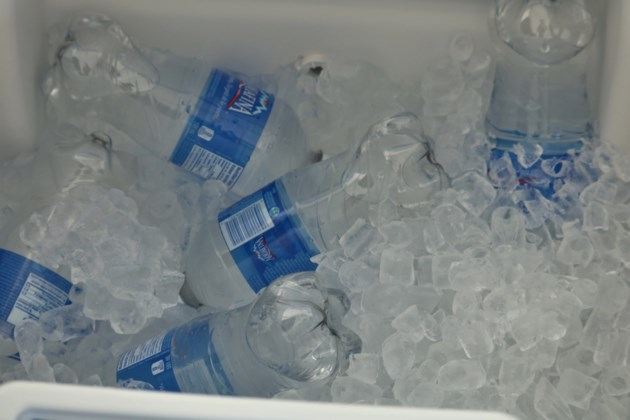Bottled Water on Ice