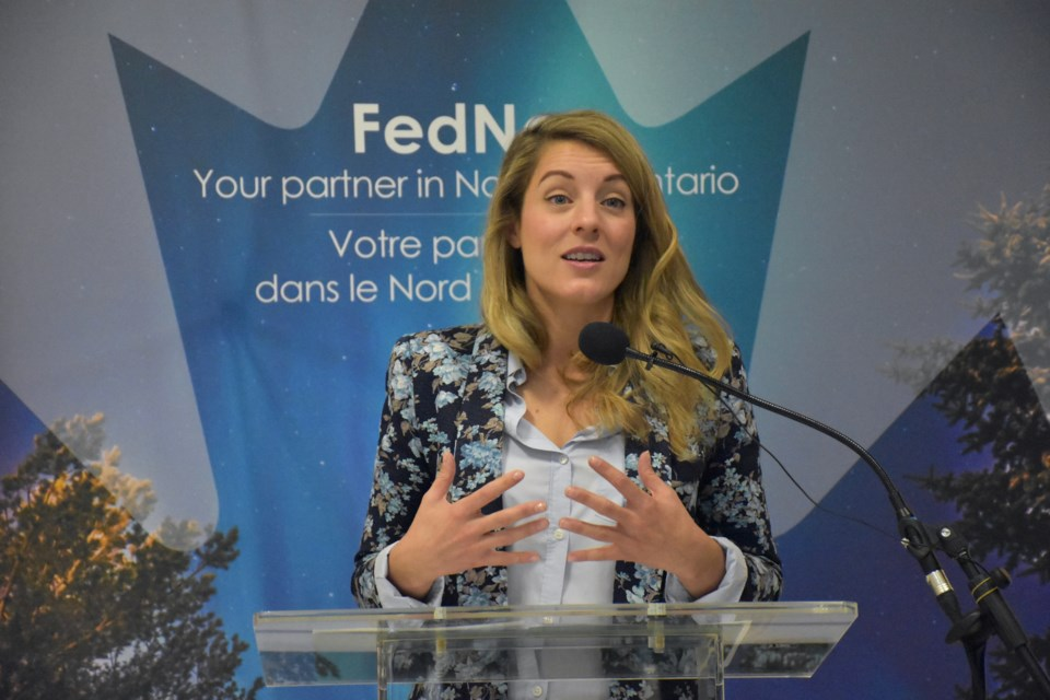Mélanie Joly is minister of Official Languages and la Francophonie. (Maija Hoggett/TimminsToday)