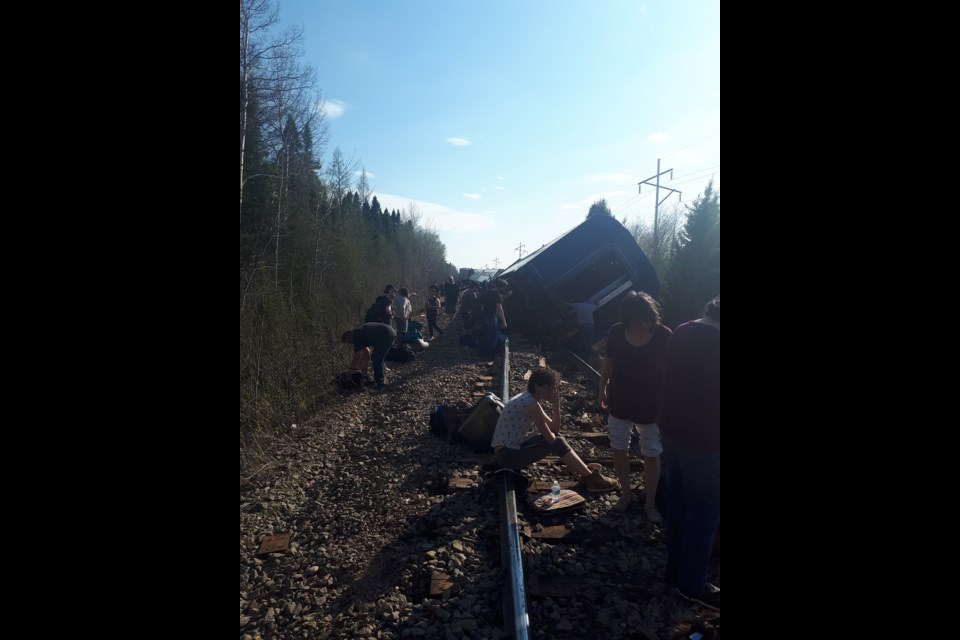 Dan Beck, who was on the Polar Bear Express passenger train that derailed May 30, took photos at the scene. Supplied photo
