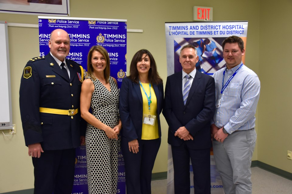 A new Mobile Crisis Rapid Response Team was launched today at the Timmins Police Service. Maija Hoggett/TimminsToday