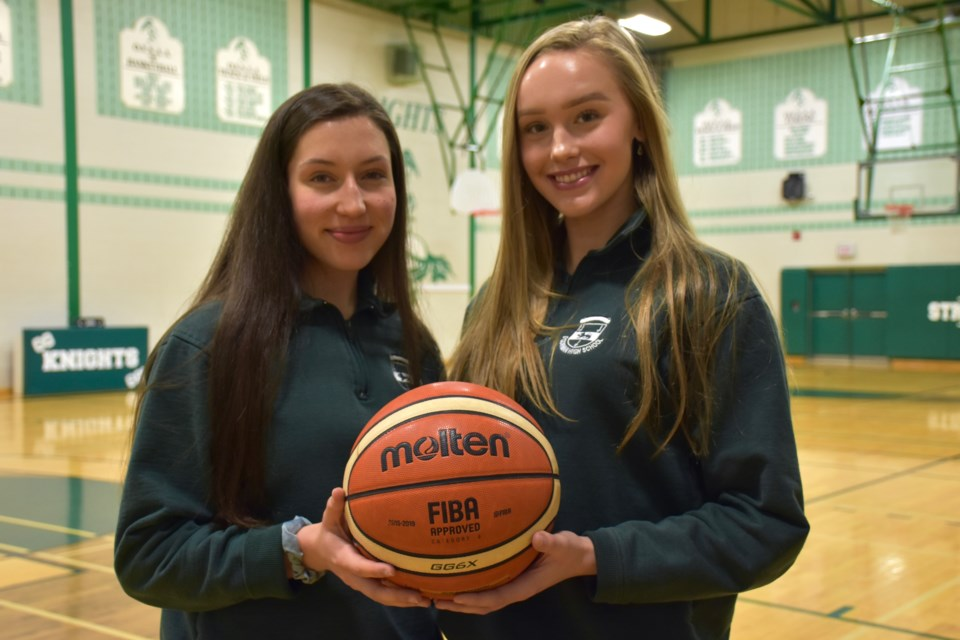 O'Gorman High School athletes Ally Burke, left, and Jenna Katic are heading to the Canletes high school all-star Game later this month. Maija Hoggett/TimminsToday