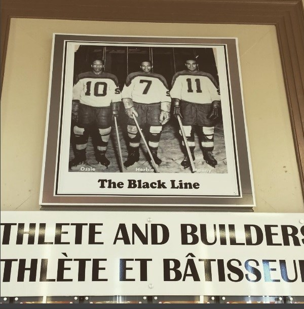 This photo of 'The Black Line' hangs in the Timmins Sports Heritage Hall of Fame. Andrew Autio for TimminsToday