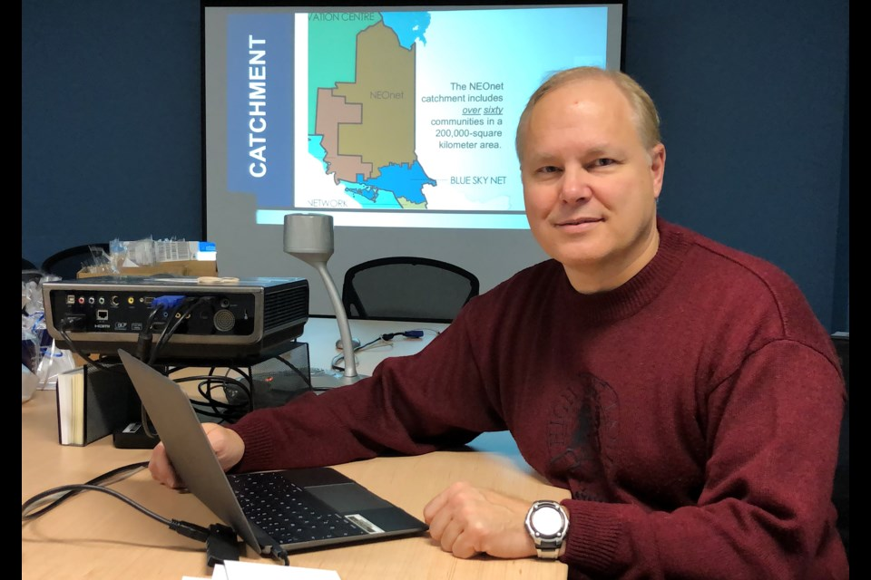 Paul Ouimette, director of operations for NEOnet, says while there have been many improvements to information and communication technology in the region over the past 20 years, there are still substantial challenges to be met to bring it up to par with the south. Wayne Snider for TimminsToday