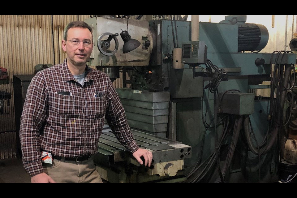Dan Katic, owner of NorFab Metal and Machine. The business recently celebrated its 25-year milestone of manufacturing custom-made equipment for mining companies. Wayne Snider for TimminsToday
