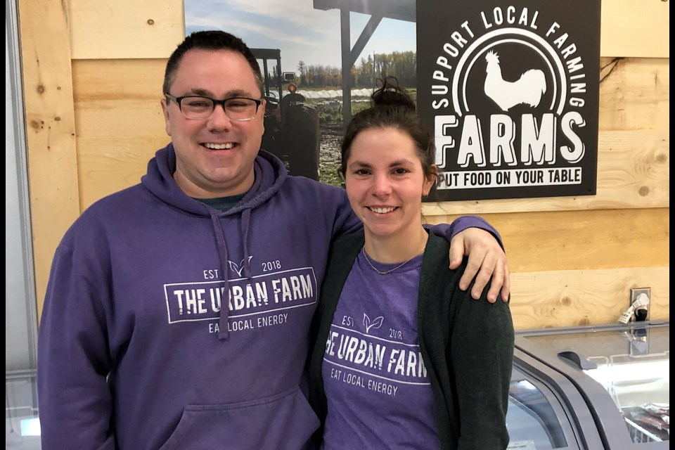 Steve Morin and Becky Lefebvre, owners of The Urban Farm, opened a second location this summer. The new store is on Riverside Drive in the West End of Timmins, while the original is in South Porcupine. The Urban Farm specializes in farm fresh food. Wayne Snider for TimminsToday
